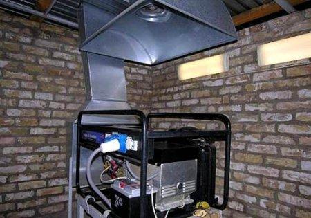 Дизельная электростанция в гараже